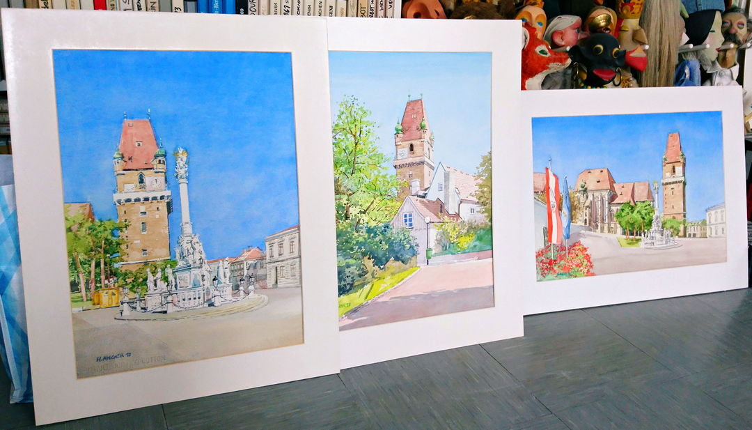 """Perchtoldsdorf"" watercolours"