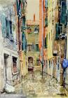 """Alley near San Lio"", watercolour 1998"