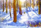 """Wintersonne"", watercolour 1990"