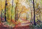 """Herbstwald in Mödling"", water colour 2010"