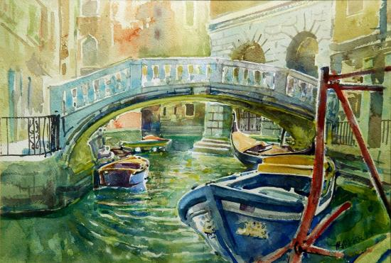 """At the La Fenice"", watercolour 1994"